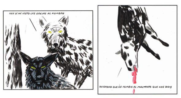 Dos viñetas de El Roto.