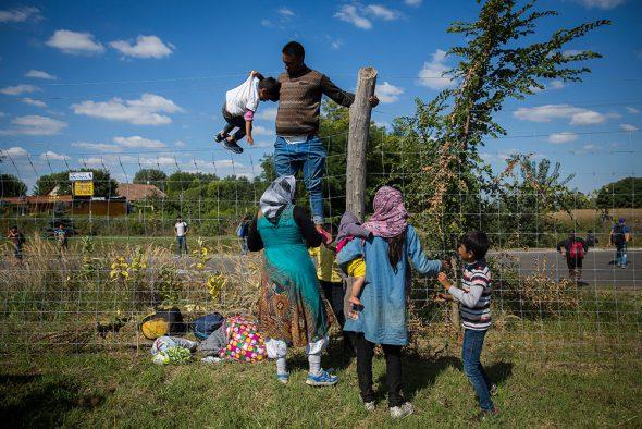 Una de las imágenes del trabajo sobre refugiados del fotógrafo Olmo Calvo.