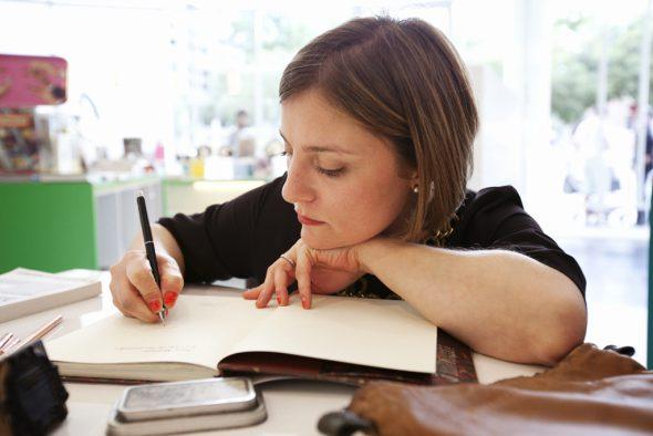La ilustradora Sara Morante. Foto: Marta Fernández.