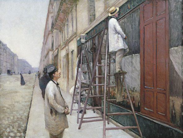 Gustave Caillebotte Pintores en un edificio, 1877 (House Painters) Óleo sobre lienzo. 89 x 116 cm Colección privada