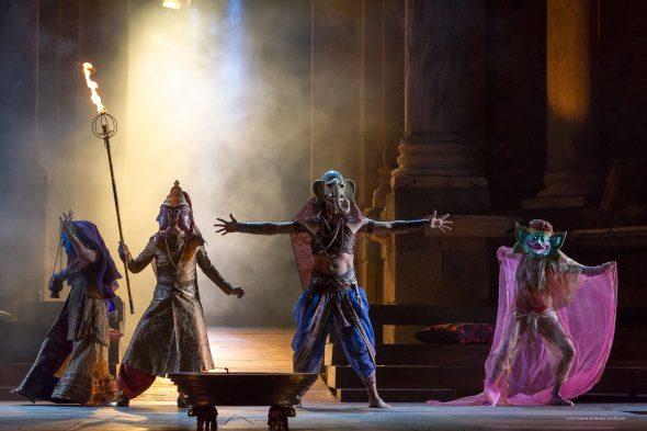 Un momento de la representación de 'Alejandro Magno' en Mérida.