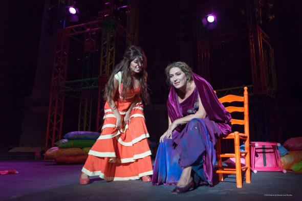 Soleá y Estrella Morente en 'Lisístrata', de Miguel Narros. Fotografía de Jero Morales.