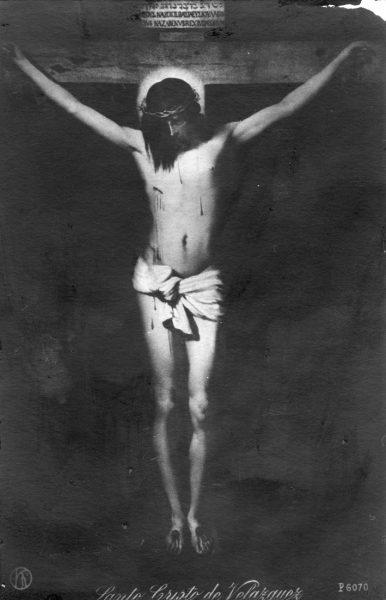 Postal del Cristo de Velázquez.