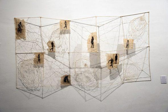 Obra de María Muñoz en la galería Mad is Mad.