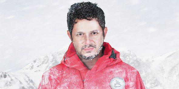 Alejandro Sanz en la campaña de Greenpeace sobre el Ártico.