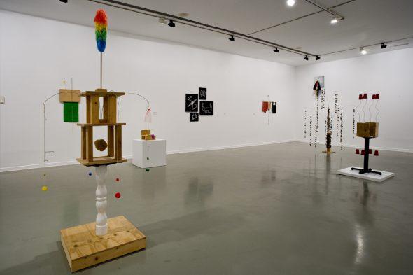 Una vista de la exposición de B. Wurtz en La Casa Encendida de Madrid.