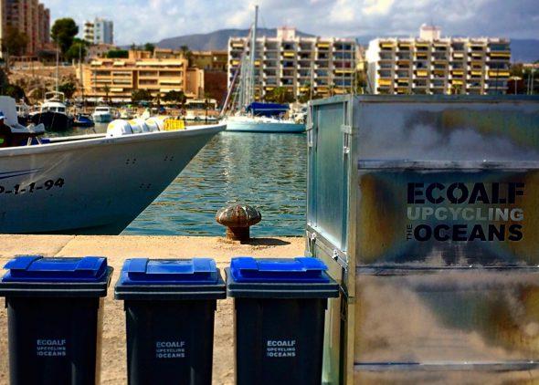 El proyecto Upcycling the oceans quiere transformar la basura encontrada en el Mediterráneo en ropa. Foto: Ecoalf.