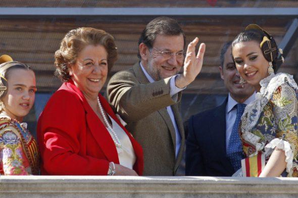 Rita Barberá en Valencia con Mariano Rajoy en 2011. Foto: Partido Popular Comunidad Valenciana.