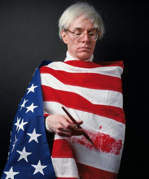 Andy Warhol fotografiado por Alberto Schommer en 1983.