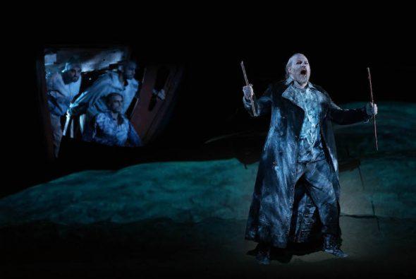 El barítono Evgeny Nikitin en el papel de El holandés. Foto: Javier del Real.