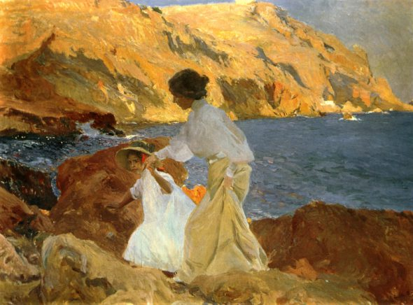 Joaquín Sorolla. Clotilde y Elena en las rocas. Jávea. 1905. Colección particular.