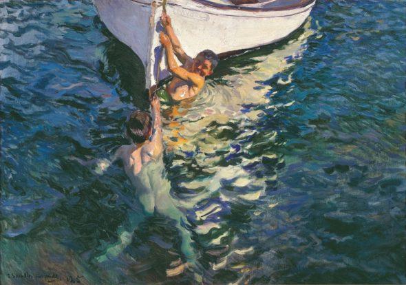 Joaquín Sorolla. El bote blanco. 1905. Colección particular.