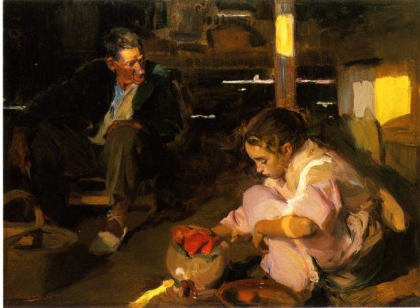Joaquín Sorolla. Los pimientos. 1903. Hispanic Society of America.