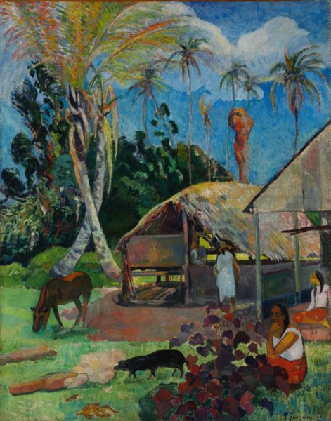 Paul Gauguin Los cerdos negros, 1891 (Black Pigs) Óleo sobre lienzo. 91 x 72 cm Budapest, Museo de Bellas Artes
