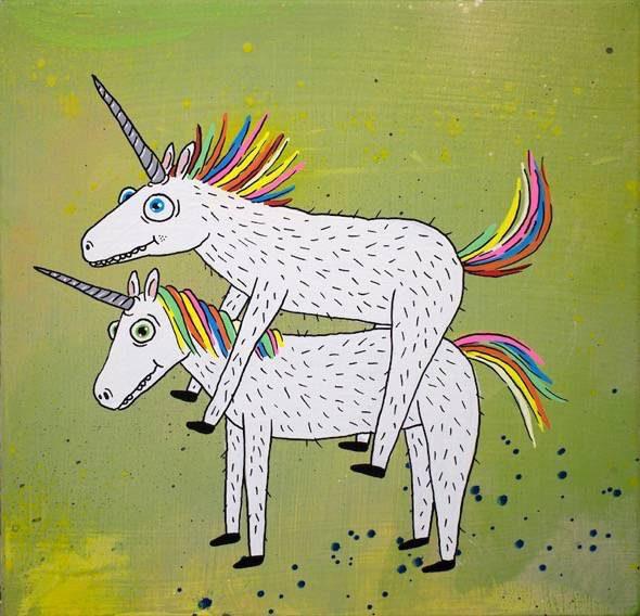 Unicorns in love, 2016. Martina's Gallery, Seregno (Italia)