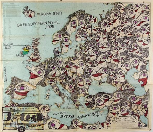 Damian Le Bas, Back To The Future! Safe European Home 1938, 2013 © Galerie Kai Dikhas y artista. Foto: Diego Castellano Cano