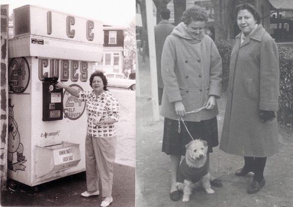 Dos momentos en la vida de la escritora. A la izquierda, durante uno de sus viajes. A la derecha, en España.