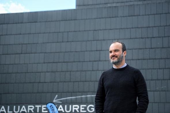 El director artístico del Festival de Cine Documental de Navarra, Oskar Alegría. Foto: M. Cuéllar.