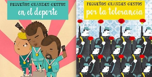 Dos portadas de la colección pequeños grandes gestos.