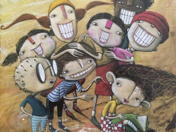 Una ilustración del libro 'Orejas de mariposa', de Luisa Aguilar y André Heves. Editorial Kalandraka
