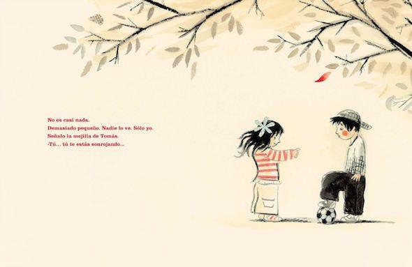 Ilustración de 'Rojo, o por qué el Bulling no es divertido'. Jan de Kinder. Tramuntana.