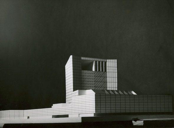 Proyecto para edificio de la Ópera Nacional de España de Rafael Aburto. Foto: Focco. Cortesía de Proyecto de Investigación Fotografía y Arquitectura Moderna en España. FAME.