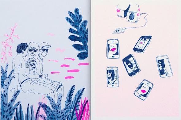 Ilustraciones de Miki Lowe para la novela 'Corazón de robot'