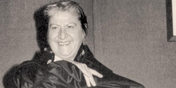La escritora Gloria Fuerte.