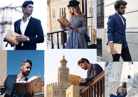 Algunos de los llamados influencers de Instagram promocionando la última novela de Ken Follet.