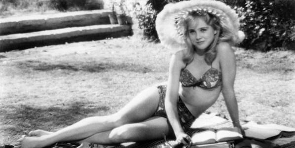 La actriz Sue Lyon en el papel de Lolita dirigida por Stanley Kubrick.