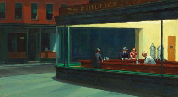 'Noctámbulos' de Edward Hopper.