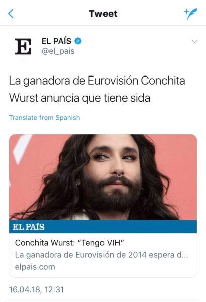 Captura del desafortunado tuit de El País que más tarde fue eliminado.