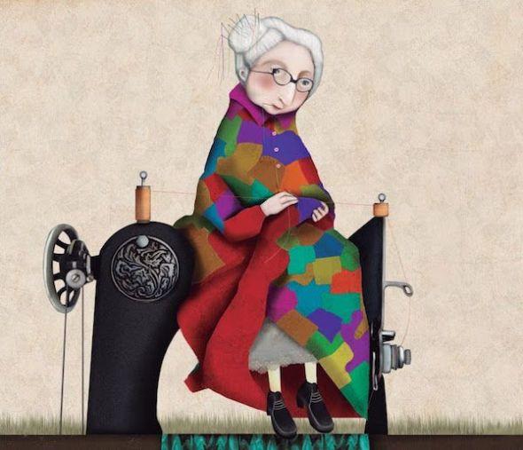 Ilustración de 'Abuelos de la A a la Z' de Raquel Díaz-Reguera.