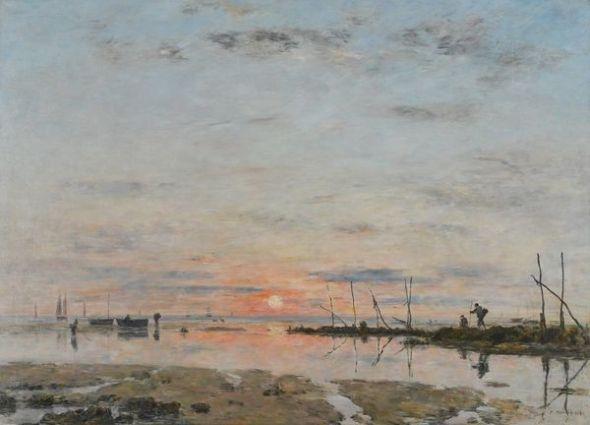 Eugène Boudin Marea baja, 1884 (Marée basse) (Low Tide) Óleo sobre lienzo. 117 x 160 cm Musée des Beaux-Arts de Saint-Lô
