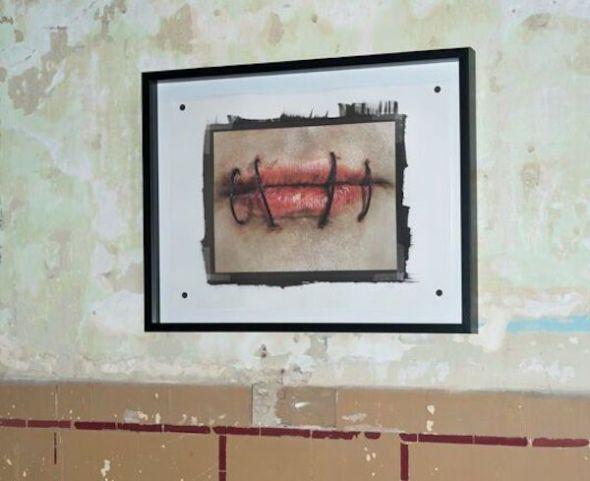 Una imagen de la exposición de Isabel Muñoz en Tabacalera.