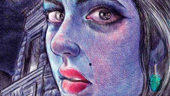 Detalle de la portada de Lo que mas me gusta son los monstruos de Emil Ferris editado por Reservoir Books.