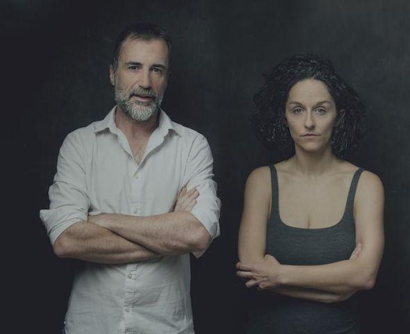 Los actores María San Miguel y Alfonso Mendiguchía, protagonistas de 'Viaje al fin de la noche'. Foto: Luis Gaspar.
