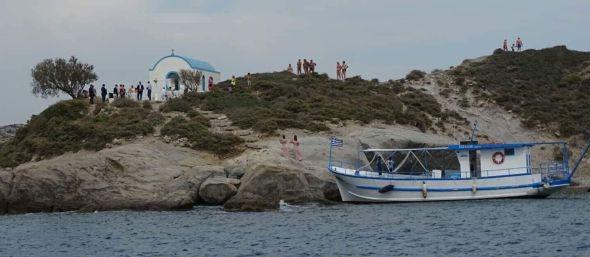 Boda griega en el islote de Agios Nikolaos, frente a Kos.
