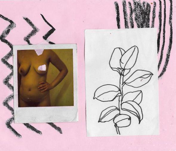 Obra de Miki Lowe incluida en su exposición 'Lilies in my brain' en la galería Mad is Mad.