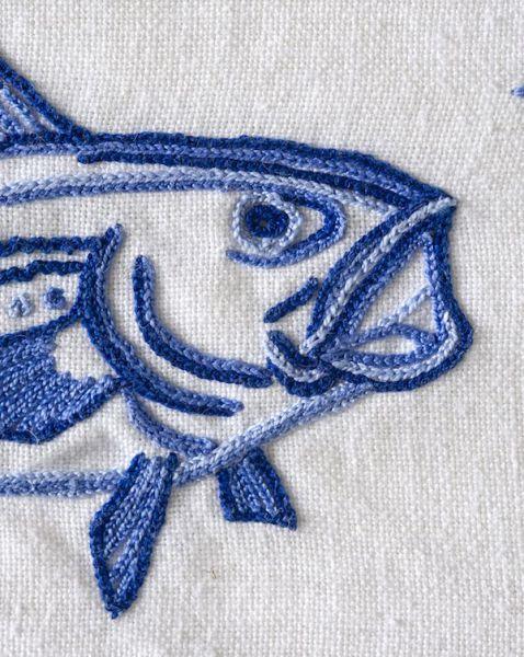 Detalle de uno de los bordados de Francisca Artigues.