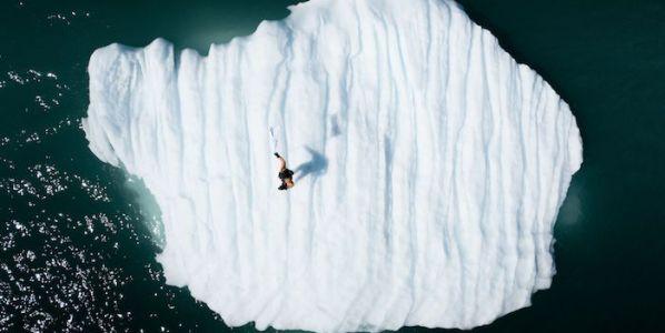Una de las obras del 'Proyecto Icebergs' de Rubén Martín de Lucas.