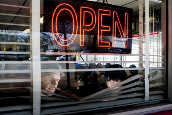 Amaral en una cafetería de Austin, Texas. Foto: Juan Pérez-Fajardo
