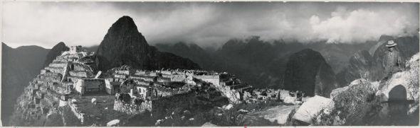 Una fotografía de Machu Picchu, Perú, tomada por Hiram Bingham en 1912.