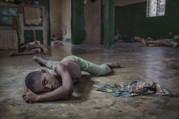 Noir es un niño esclavo que ha sido rescatado. Centro de acogida de los misioneros salesianos en Kara. Togo. Foto: Ana Palacios.
