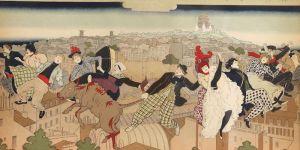 Pierre Marie Louis Vidal (1849-1925), Cubierta para La Vie à Montmartre, 1897, Colección particular. Foto: Elsevier Stokmans Fotografie.