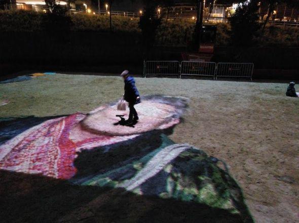 La obra 'Sandboxes' de Lozano-Hemmer.