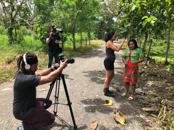 Un momento del rodaje del corto 'Fragmentos' de Mayte Carrasco.