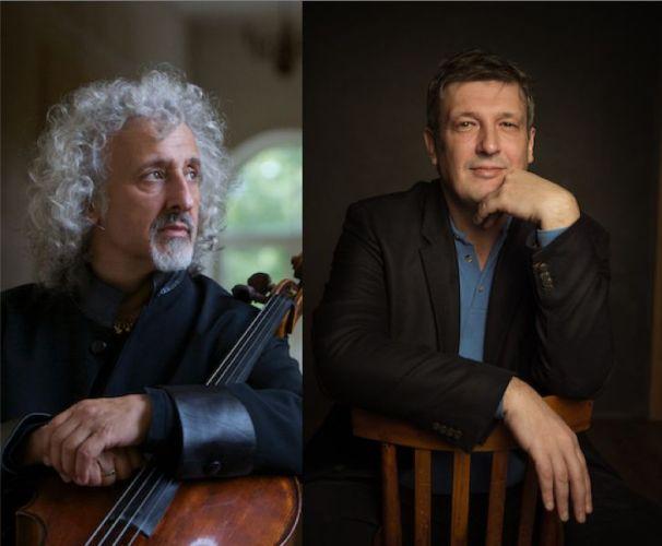 A la izquierda, el violonchelista Mischa Maisky. A la derecha, el pianista Boris Berezovsky.