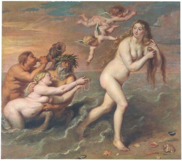 'El nacimiento de Venus' (1636-1638). Cornelis de Vos.