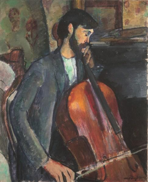 El violonchelista de Modigliani.